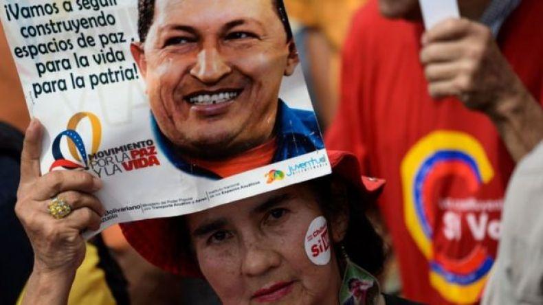 Mensajes a favor de Chávez.