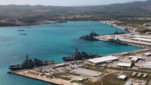 Base naval de EE.UU. en Guam.