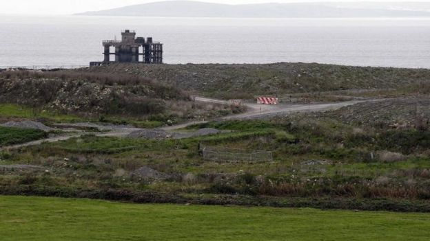 The site of the Hinkley Point C power station