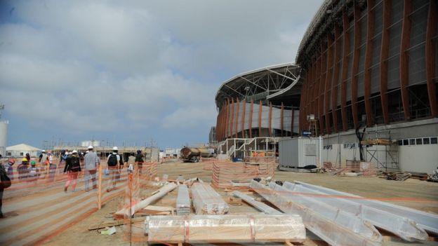 Obras do parque olímpico do Rio de Janeiro