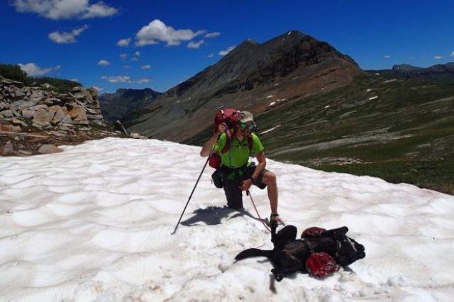 Trevor and Tennille on a snowy mountain