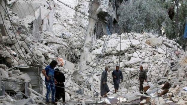 Destruição em Aleppo