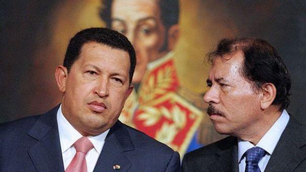 Hugo Chávez y Daniel Ortega