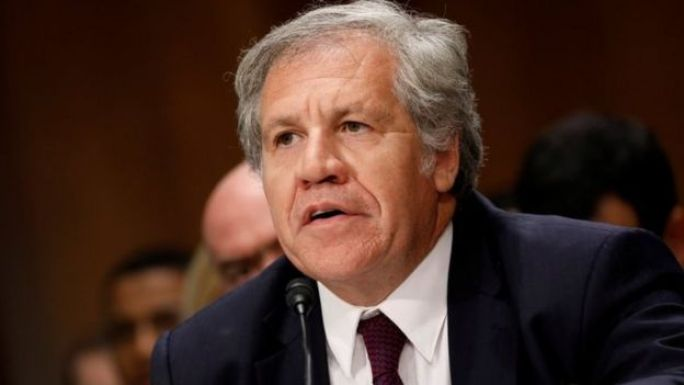 Organization of American States President Luis Almagro testifies before a Senate Foreign Relations Subcommittee on the ongoing crisis in Venezuela on Capitol Hill in Washington, U.S., July 19, 2017.