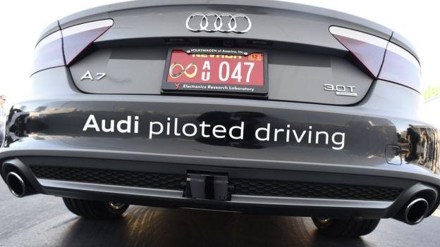 Audi driverless car