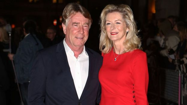 Rick Parfitt and his third wife Lindsay