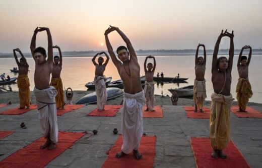 Young Brahmins training to be priests in Varanasi