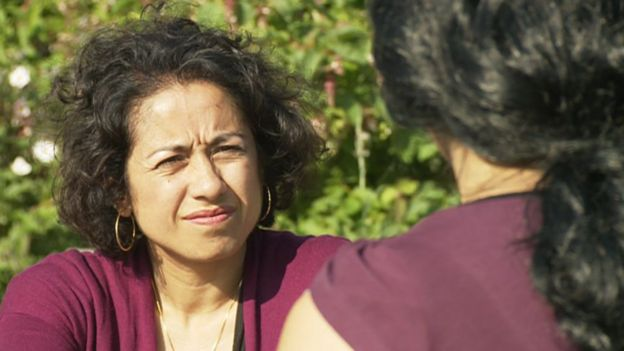 Ayisha talking to Samira Ahmed on Inside Out