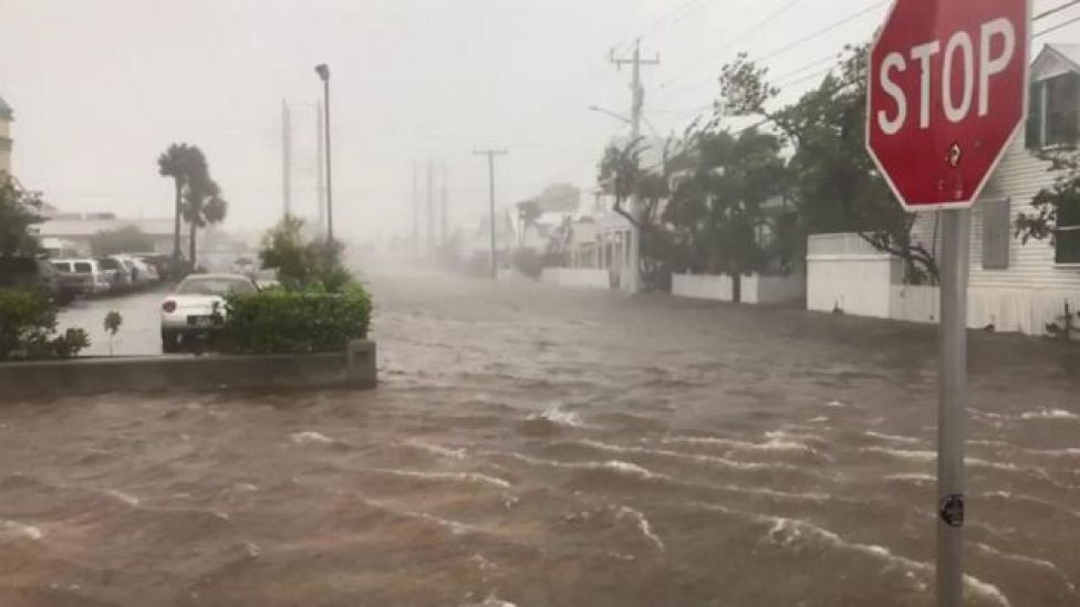Inundación en los cayos de Florida