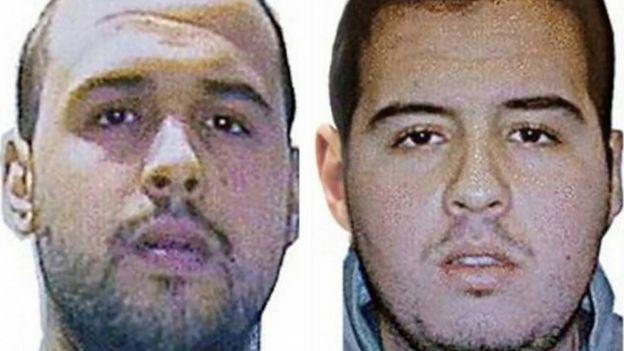 Khalid (L) and Ibrahim el-Bakraoui