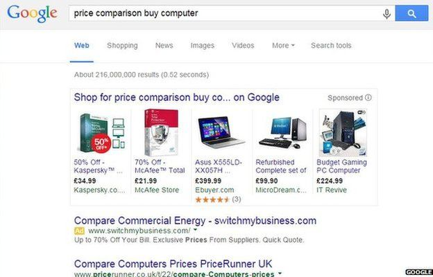 Price comparison search