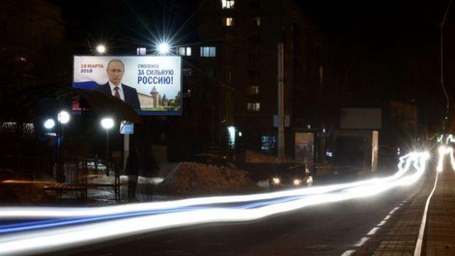 Letreiro de Putin