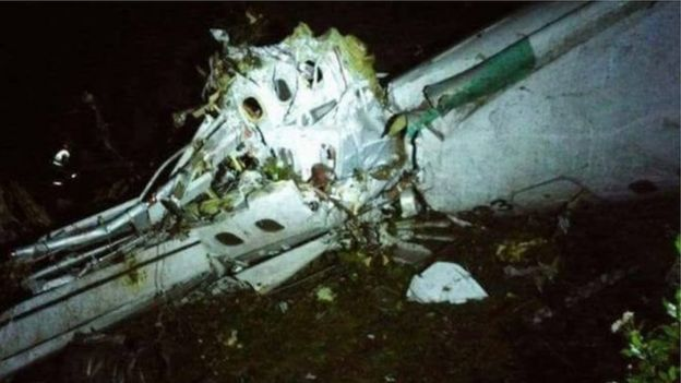 The plane crashed in a mountainous area on its way to Medellin