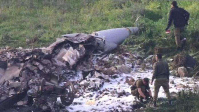Avión de combate israelí derribado