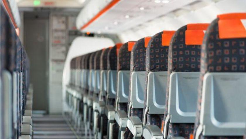 uçakta yolcu koltukları