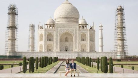 William y Kate en Taj Mahal