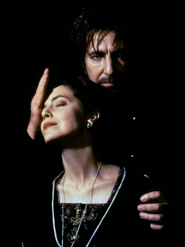 Greta Scacchi and Alan Rickman in Rasputin, 1996