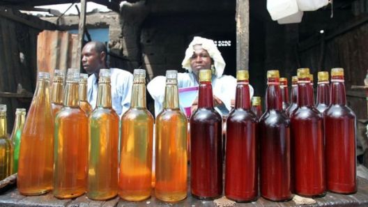 Palm oil is being sold at the weekly Yola market on May 8, 2015