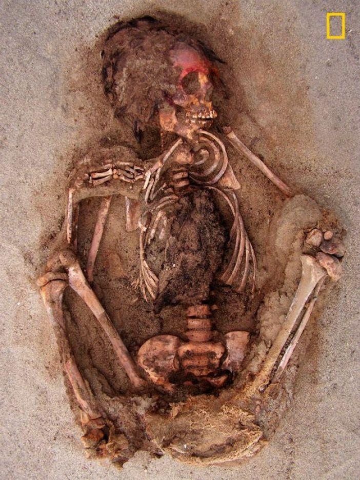 Niño sacrificado por los Chimú