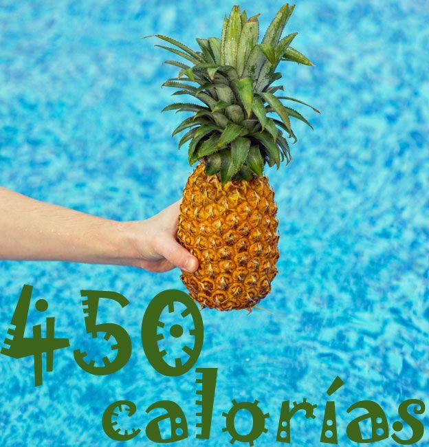Piña con calorías