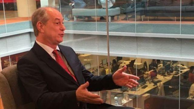 Ciro Gomes em entrevista à BBC Brasil em maio de 2017