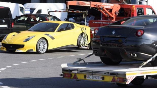 Two of the pricey cars said to belong to Teodorin Obiang Nguema