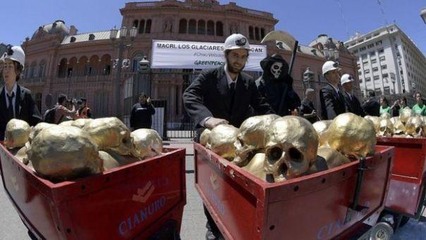 Manifestación de protesta en Argentina.
