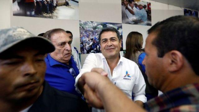 El presidente Juan Orlando Hernández