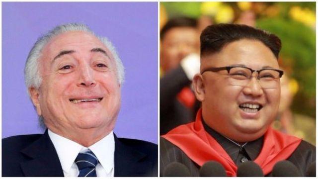 Michel Temer e Kim Jong-un