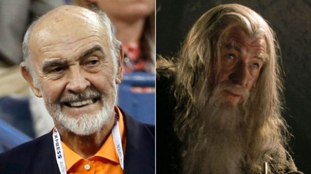 Sir Sean Connery y Sir Ian McKellen