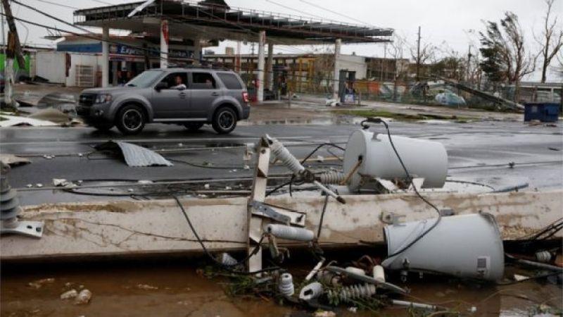 Destrucción del huracán María en Guayama, Puerto Rico.