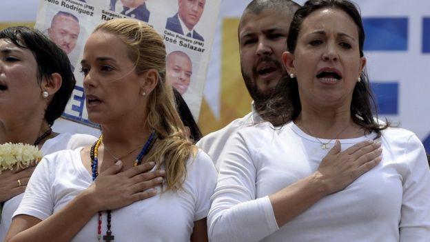 Lilian Tintori y Maria Corina Machado