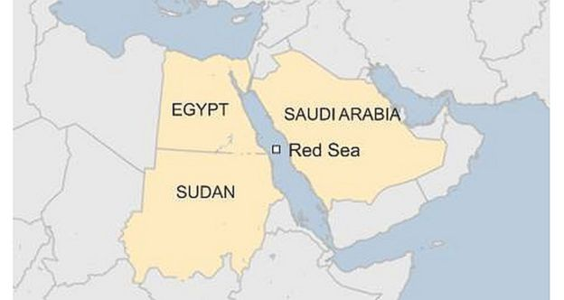 map red sea