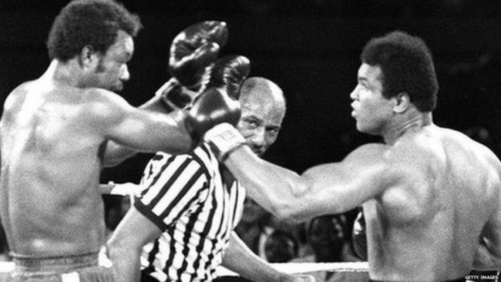 Muhammad Ali and George Foreman