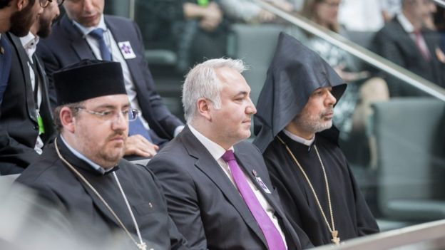 Armenian dignitaries in Bundestag, 2 Jun 16