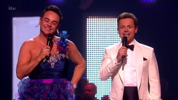 Ant and Dec hosting the Brits