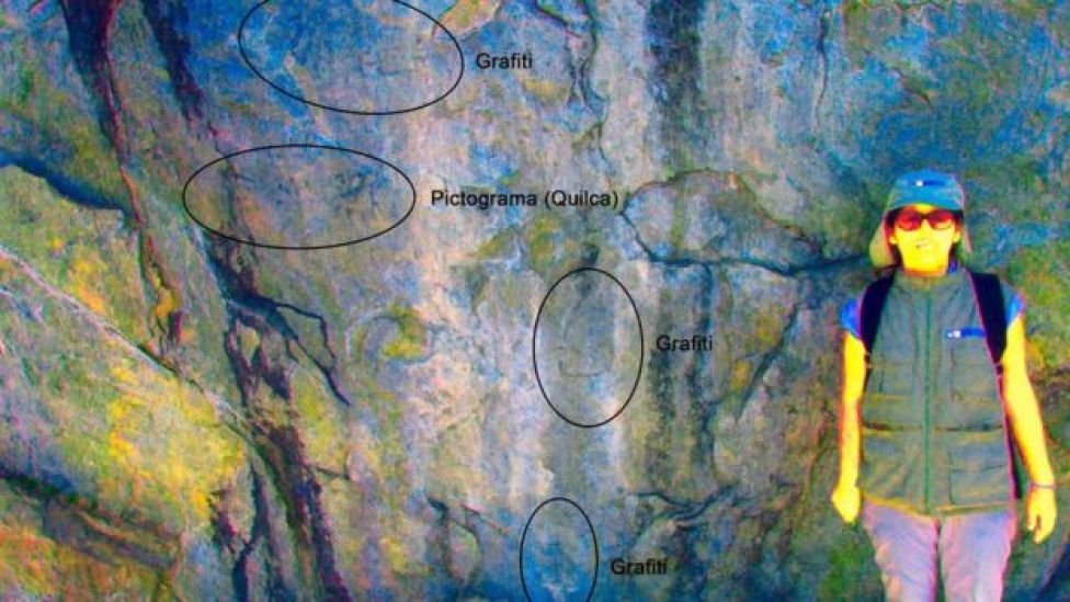 Lugar donde fue hallada la pintura rupestre en Machu Picchu.