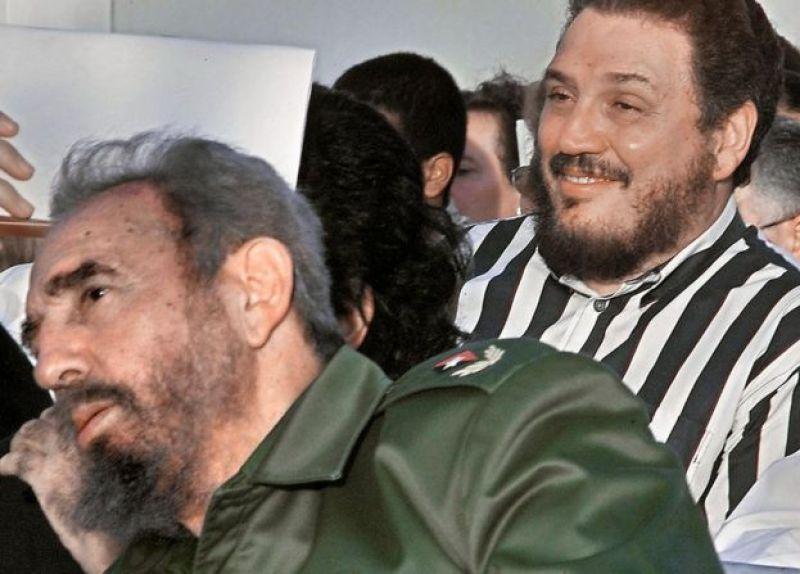 Фидель Анхель Кастро Диас-Баларт с отцом Фиделем Кастро