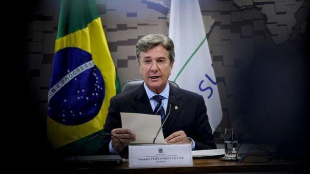 Fernando Collor no Senado em maio de 2017