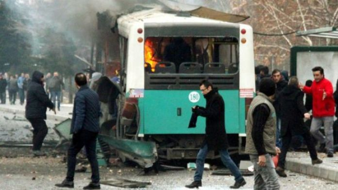Kayseri'de saldırının düzenlendiği bölge