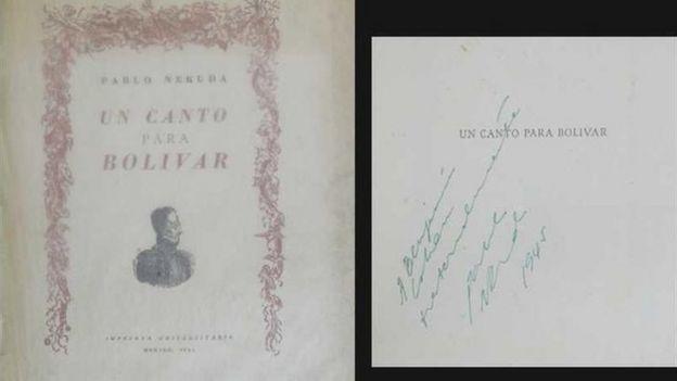 Portada del poema Un Canto para Bolívar de Pablo Neruda