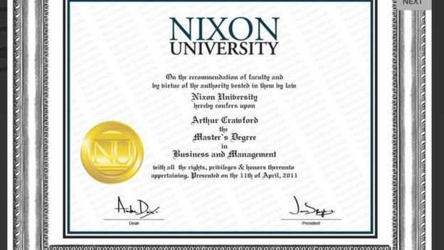 fake degree certificate