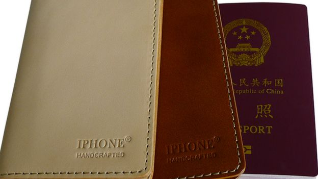 passport holders with IPHONE label