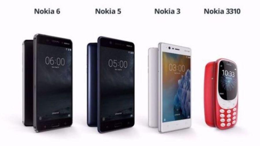 Modelos lançados pela Nokia