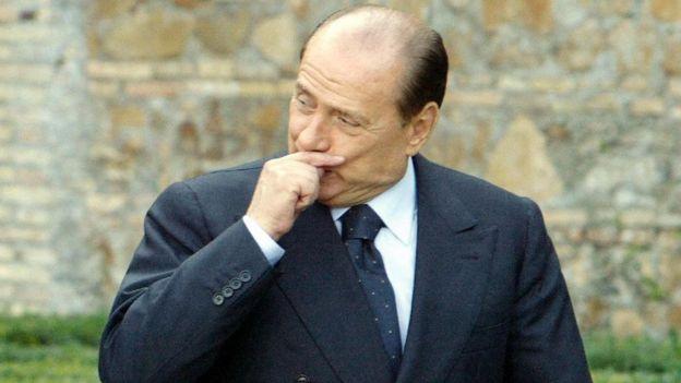 Silvio Berlusconi, the former prime minister of Italy, at a renaissance villa near Rome, 6 November 2003