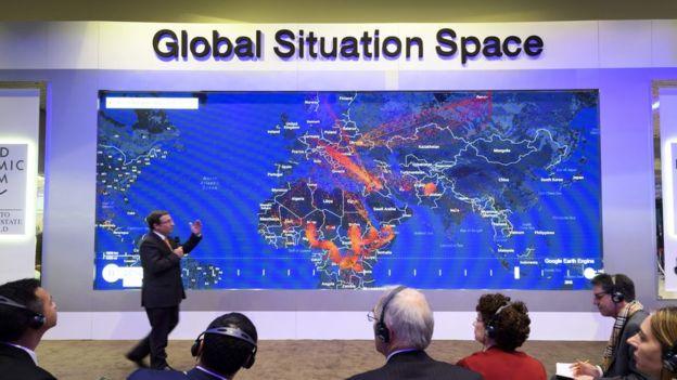 Visitantes no Forum Econômico de Davos