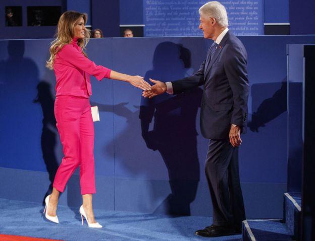 """Képtalálat a következőre: """"US presidential debate: Trump launches ferocious attack on Clintons"""""""