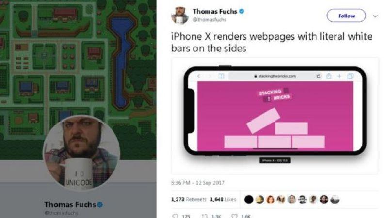 Reprodução de postagem no Twitter de Thomas Fuchs