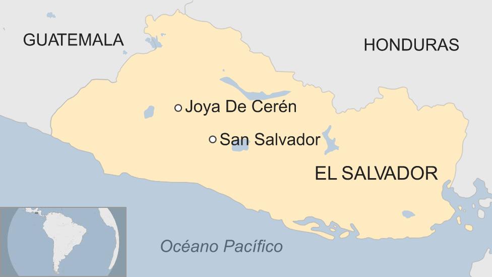 Mapa de Joya de Cerén