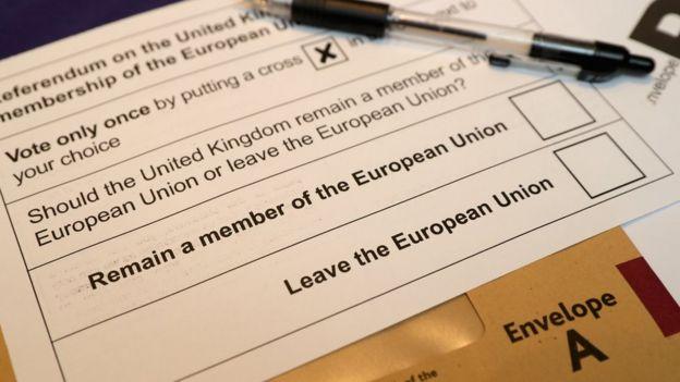 Voto en referendo del brexit